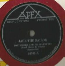 78 Rpm Record Don Messer Jack The Sailor on APEX