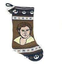 Disney Star Wars Luke Skywalker Knit Christmas Stocking Lined Brown Blue