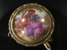 """A.REYNAUD LIMOGES 1992 PORCELANE /""""JOY/"""" CHRISTMAS ORNAMENT NEW BOX MADE IN FRANCE"""
