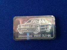 1986 The Berlin Mint Mercedes 190E 2.3-16 Degussa Silver Art Bar P1706