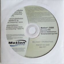 Motion Computing Genuine J3500 Complete Recovery DVD with Windows 7 Pro Bundle