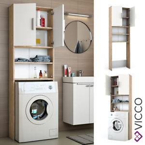 Vicco Scaffale per lavatrice Armadietto per bagno Sonoma 190x64cm Lavatrice