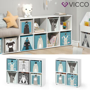 Vicco Kinderregal inklusive Kinder Faltboxen Bücherregal Aufbewahrungsregal