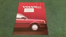 1985 VOLVO 360 GLE & GLE INJECTION 4 DOOR SALOON - UK BROCHURE Dealer Sticker