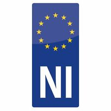 Motorcycle NI Euro Sticker for Irish Northern Ireland Motorbike Number Plate