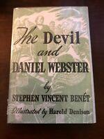 THE DEVIL AND DANIEL WEBSTER by Stephen Vincent Benet (1965 - Illustrated) HC