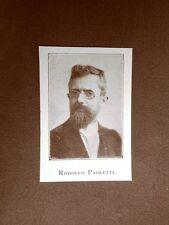 Stampa del 1923 Rodolfo Paoletti Collaboratore dell'Illustrazione Italiana