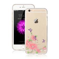 ORCHEDEE Hülle - Apple iPhone 7 PLUS Schmetterling Silikon Blume mit Diamant 14