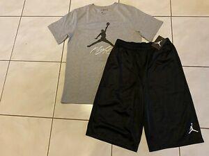 New NIKE Air Jordan Basketball SHORTS +Jordan SHIRT Boy Size M (10-12 Yrs) $63