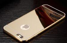 Luxury Metal Mirror Case iPhone 4 5 s SE 6 7 8 Plus Aluminum Gold Rose + GLASS