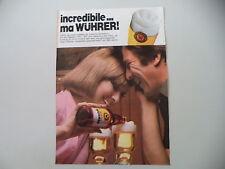 advertising Pubblicità 1973 BIRRA WUHRER