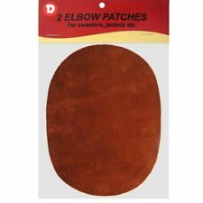 2 Natural Suede Leather Sew-On Elbow Repair Patches 4.5 x 5.5 in - Rust