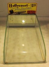 Antique 1937 Hollycourt Pre-Smoked Pipe Glass Display Case Linkman Curved Glass
