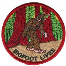 Bigfoot Lives Patch - Sasquatch in the Forest