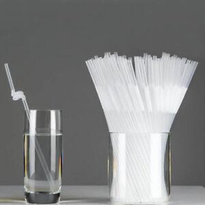 Long Transparent Party Extra Flexible Drinking Bendy 100pcs Straws Z1O9