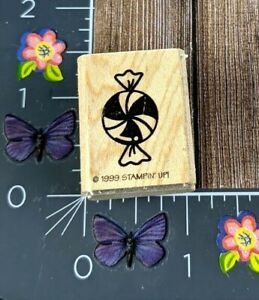 Stampin' Up! Wrapped Candy Rubber Stamp 1999 Mint Food Wood Mount #G72