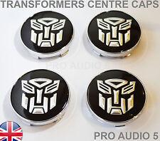 4x TRANSFORMERS WHEEL CENTRE CAPS 60mm Universal Center - UK