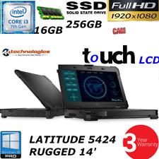 Dell Latitude 14 Rugged 5424 ATG i3-7130U 1080P TOUCH 256GB SSD HD 16GB 3YR WTY