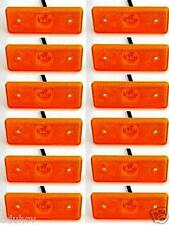12 pezzi 24V 4 LED Indicatore Laterale Arancio Color ambra Luci per camion