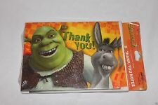 ~SHREK -2 ~ 8-THANK YOU NOTES WITH ENVELOPES  PARTY SUPPLIES