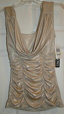 XOXO Echoes Of Rio, Beatiful gold shimmering top, Size Medium, NWT
