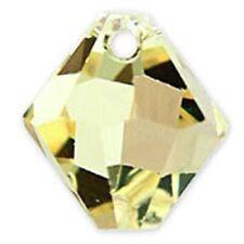 Swarovski Crystal TopDrill Bicone Jonquil Color6mm. Approx. 24 PCS. 6328-6301