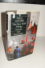 The New York Trilogy by Paul Auster UK 1st/2nd 1987 Faber & Faber Hardcover
