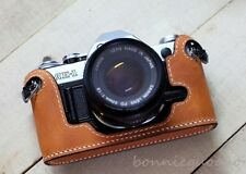 Handmade Genuine real leather bag case cover for Canon AE-1 AE-1P A-1 camera