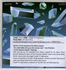 (CU295) Rustie, Surph ft Nightwave - 2012 DJ CD