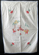 Antique 1930 Three Little Pigs Crib Quilt