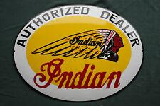 Indian Dealer Enamel sign Emailschild ECHTE Emaille Emblem Schild 65 x 50 cm