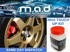 SUBARU PRODRIVE GOLD WRX STI IMPREZA ALLOY WHEEL TOUCH UP PAINT KIT BRUSH