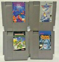 Nintendo NES Game Lot Tested Authentic Tetris Fester's Quest Top Gun Ninja TMNT
