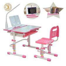 Children Study Table & Chair, Height adjustable, Ergonomic design suit age 3+