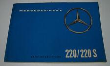 Betriebsanleitung Mercedes 220 / 220 S W 180 Bedienungsanleitung Stand Juli 1959
