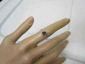 GORGEOUS ESTATE 14 KT GOLD .67 CTW. VIVID GREEN  DIAMOND RING !!!!!!!!