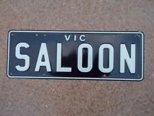 License plate Number plate VIC BLACK CUSTOM #SALOON