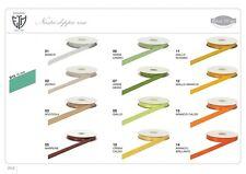 Nastro doppio raso 15 mm rotolo bobina da 50 mt vari colori fai da te bomboniera