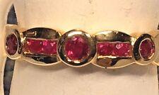Ladies ruby + Diamond 14k fancy ring     RETAIL $ 950.00