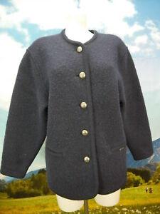 Geiger Collection Austria Schurwolle neuwertig blau Trachtenjacke Jacke Gr.42