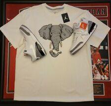 Nike Air Jordan Shirt Retro 3 Iii Elephant Grey Print Og 88 Nwt 2Xl
