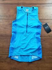 ZOOT Womens XS Performance Tri Tank Top Mali- Blue Shirt Triathlon Singlet