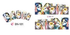 NAIL Art Adesivi Decalcomanie acqua trasferimento adesivi Halloween Teschio Gotico (BN181)