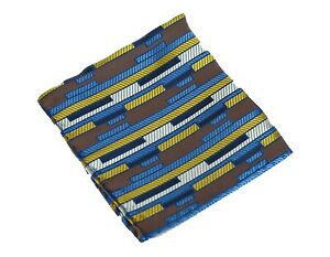 Lord R Colton Masterworks Pocket Square Miami Brown Blue Silk - $75 Retail New