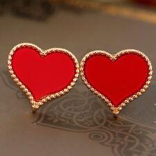 LOVE HEART CUTE RED TWILIGHT STUD EARRINGS- *UK SELLER* SMALL GIFT FUNKY