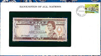 Banknotes of All Nations Fiji 1980 1 Dollar UNC P76 C/5