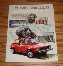 Original 1982 Volkswagen VW Formula-E Sales Brochure 82 Jetta Rabbit Pickup