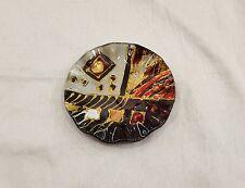 BOMBONIERA MATRIMONIO PIATTINO TONDO VETRO DEC. GLITTER COD. CG 236500
