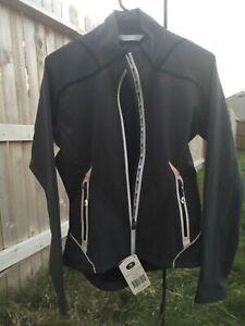 New Women's Sugoi RSR power shield active jacket M cycling biking gunmetal gray