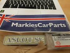 "AUSTIN ROVER METRO Badge Coffre Hayon Badge ""Ascot se"" DAM100600MMM Authentique"